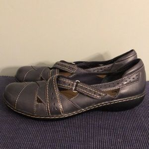 Clarks Bendables Ashland Spin Q Leather Shoes